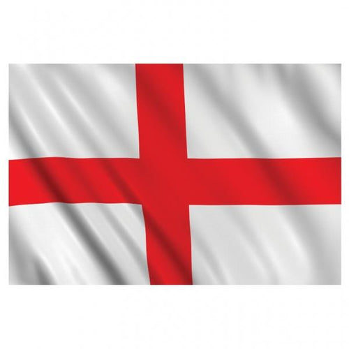 Large England Flag St George Cross on white background flag measures 5ft x 3ft