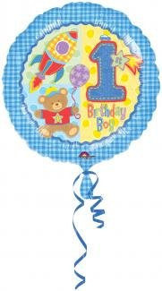 Hugs & Stitches 1st Birthday (Boy) - Foil Balloon