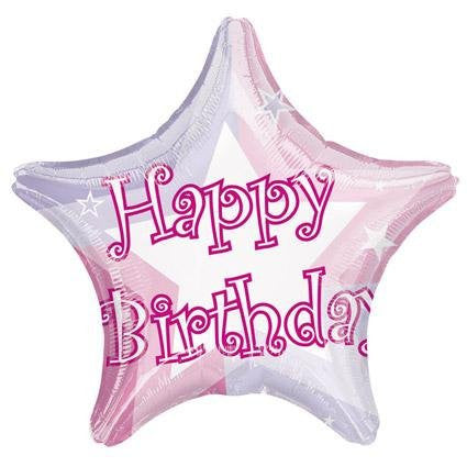Birthday Shimmer Pink - Foil Balloon