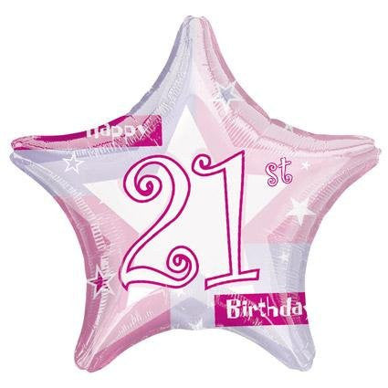 Birthday Shimmer 21 - Foil Balloon