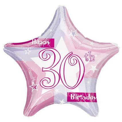 Birthday Shimmer 30 - Foil Balloon