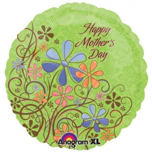 Happy Mother's Day (Floral Swirls) - Foil Balloon