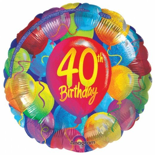 Foil Balloon - 40th Birthday