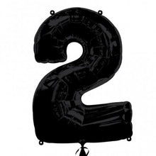 black number 2 shape balloon