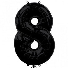 black number 8 shape balloon