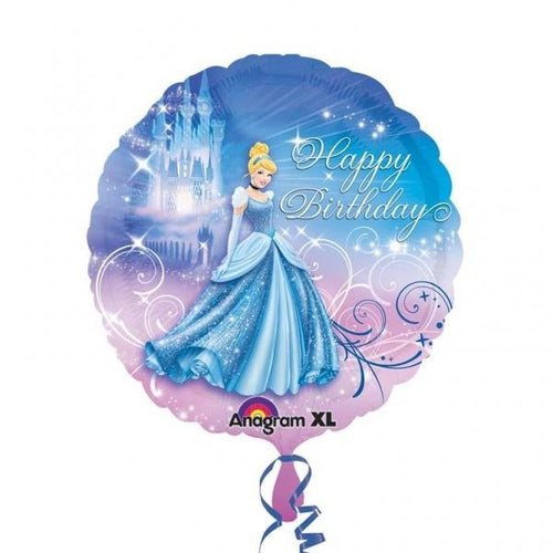 Cinderella 'Happy Birthday'  - Foil Balloon
