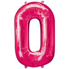 Large number 0 shape balloon in pink