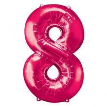 Large number 8 shape balloon in pink