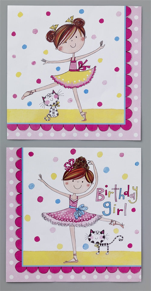 20 Ballerina Lunch Napkins a bright and stylist way to celebrate any girl's party