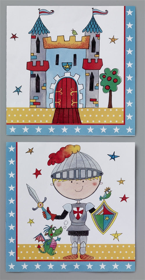 20 Knight Lunch Napkins a bright and bold design for any boy's Party
