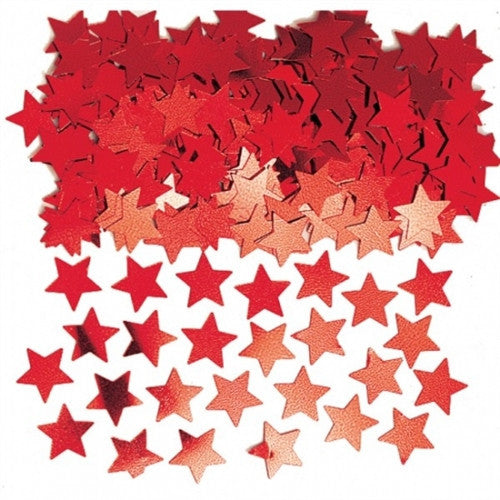 Red Stardust Table Confetti
