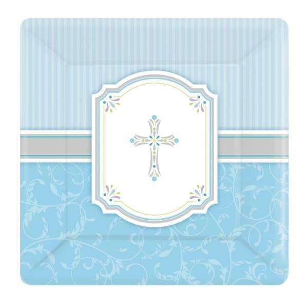 Communion Blessings - Blue Paper Plates
