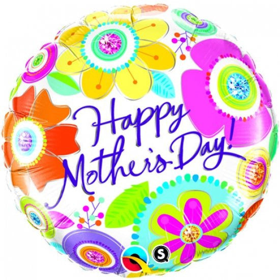 Happy Mother's Day (Jewelled Blossoms) - Foil Balloon