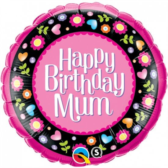 Foil Balloon - Happy Birthday Mum