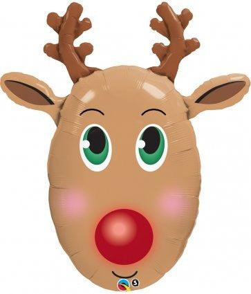 Foil Balloon - Red Nosed Reindeer