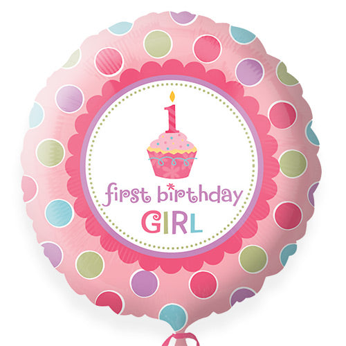 'first birthday GIRL' - Foil Balloon