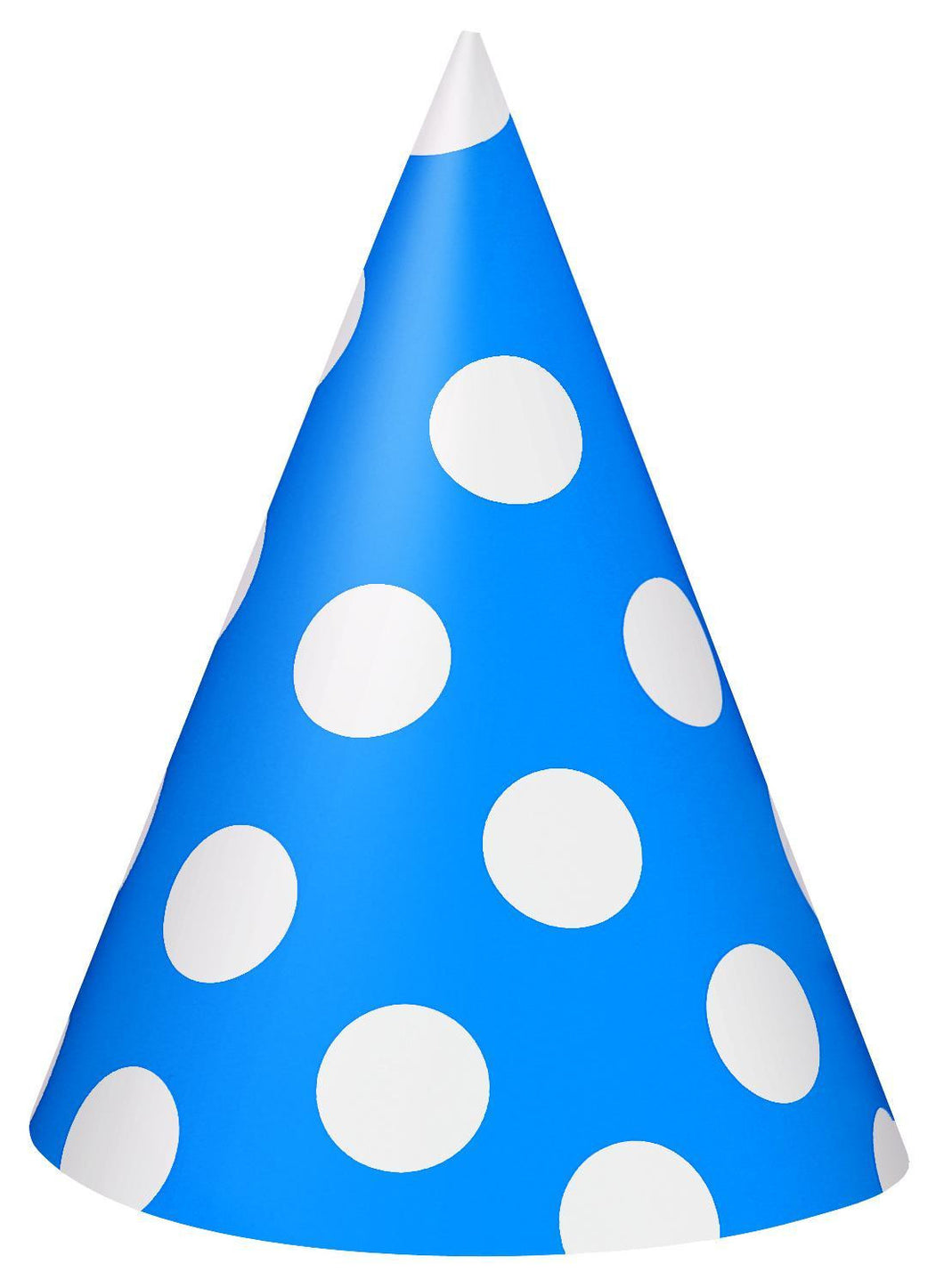 Royal Blue Decorative Dots Party Hats