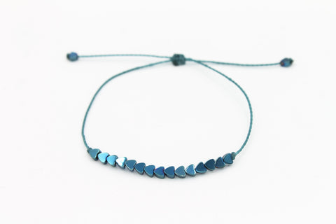 Blue Mini Hearts stone Bracelet