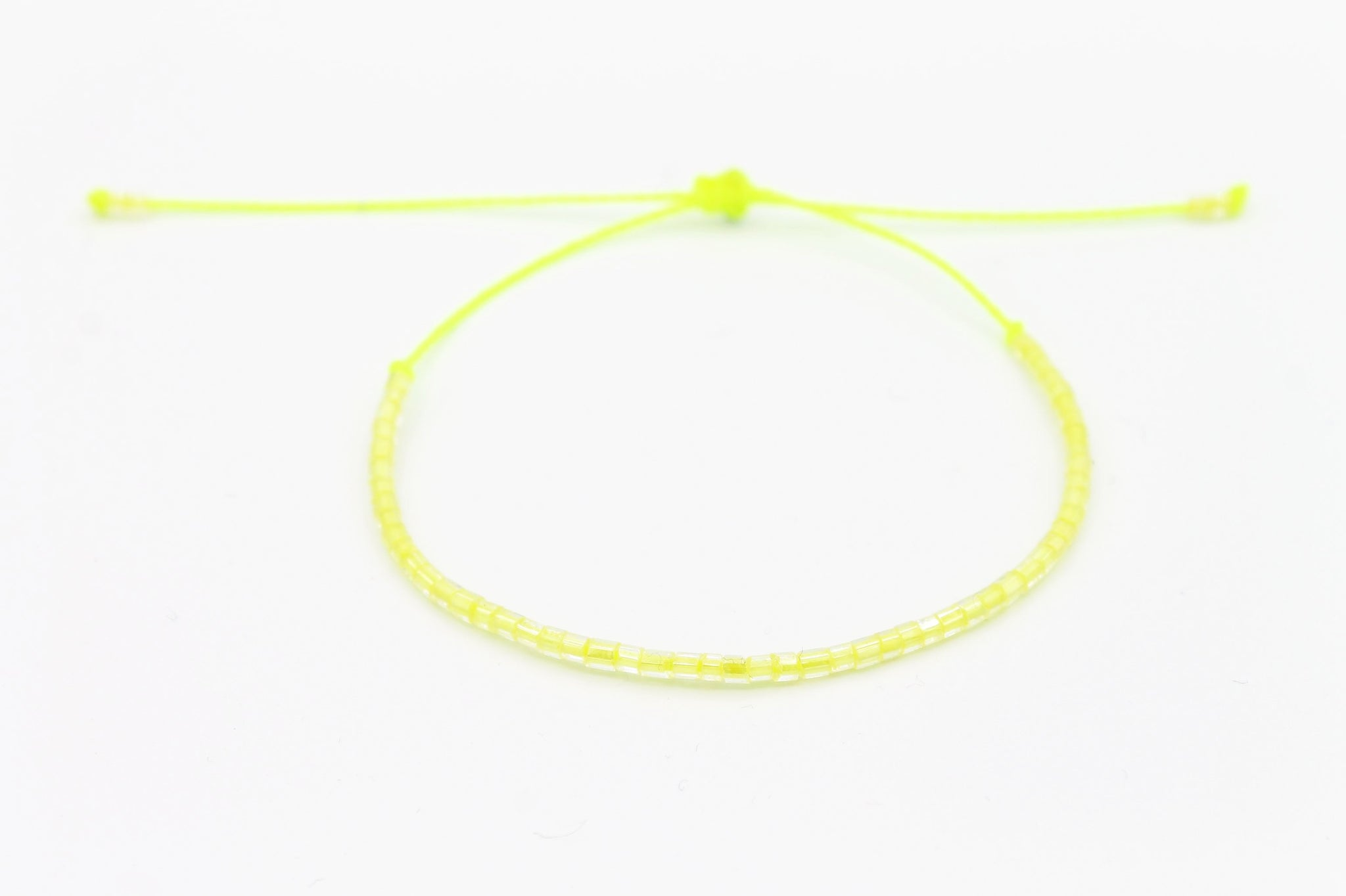 Czech tiny seed beads Neon Yellow