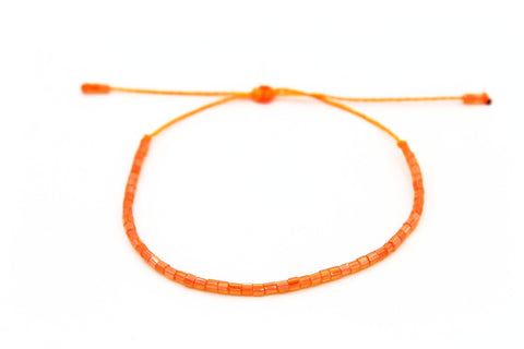 Czech tiny seed beads Neon Orange