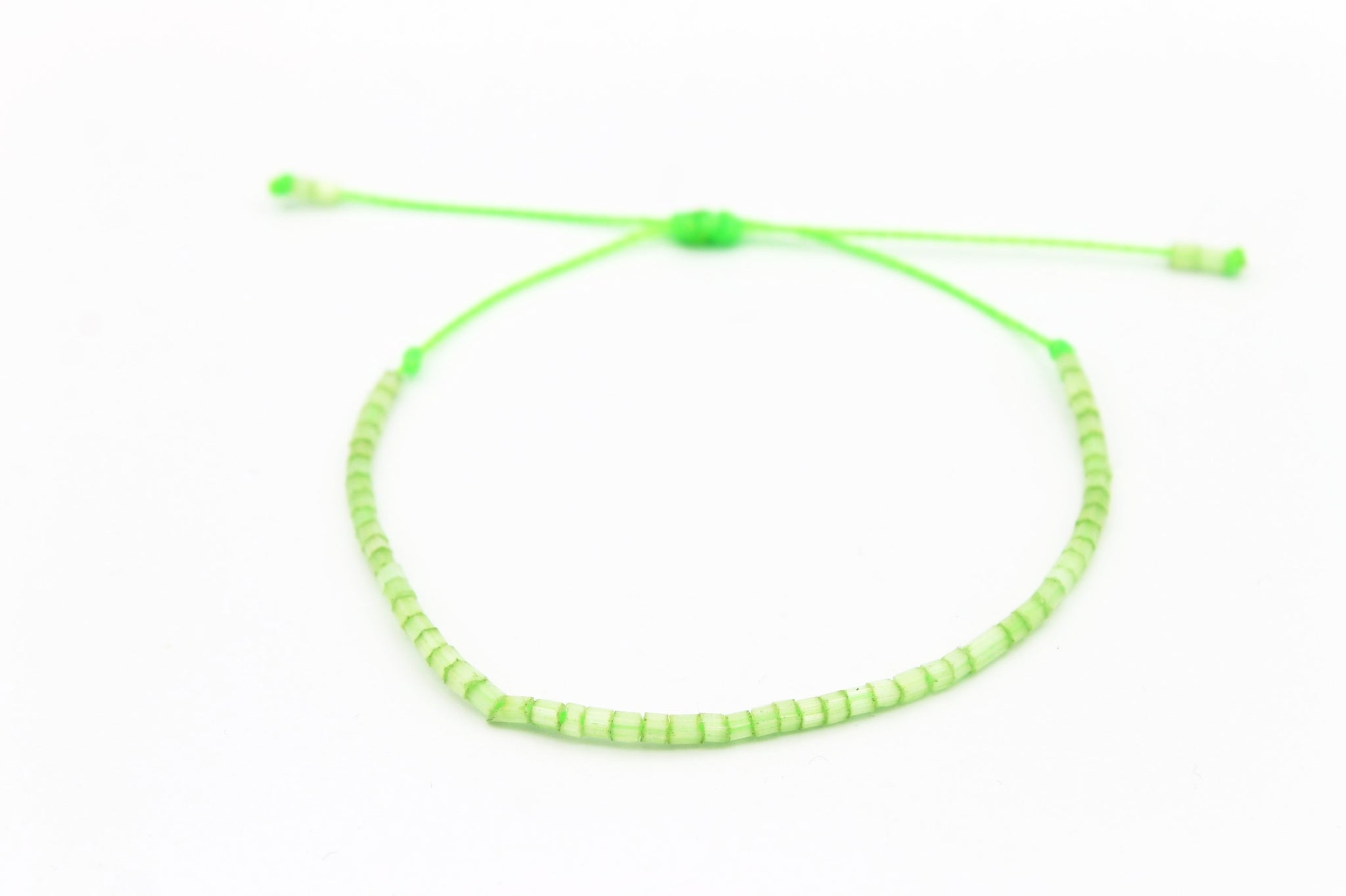 Czech tiny seed beads Neon Green