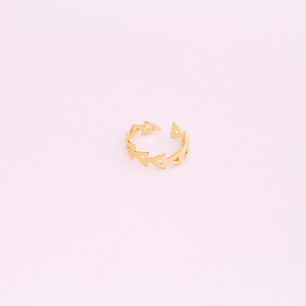 Gold Plated Chevron Ring