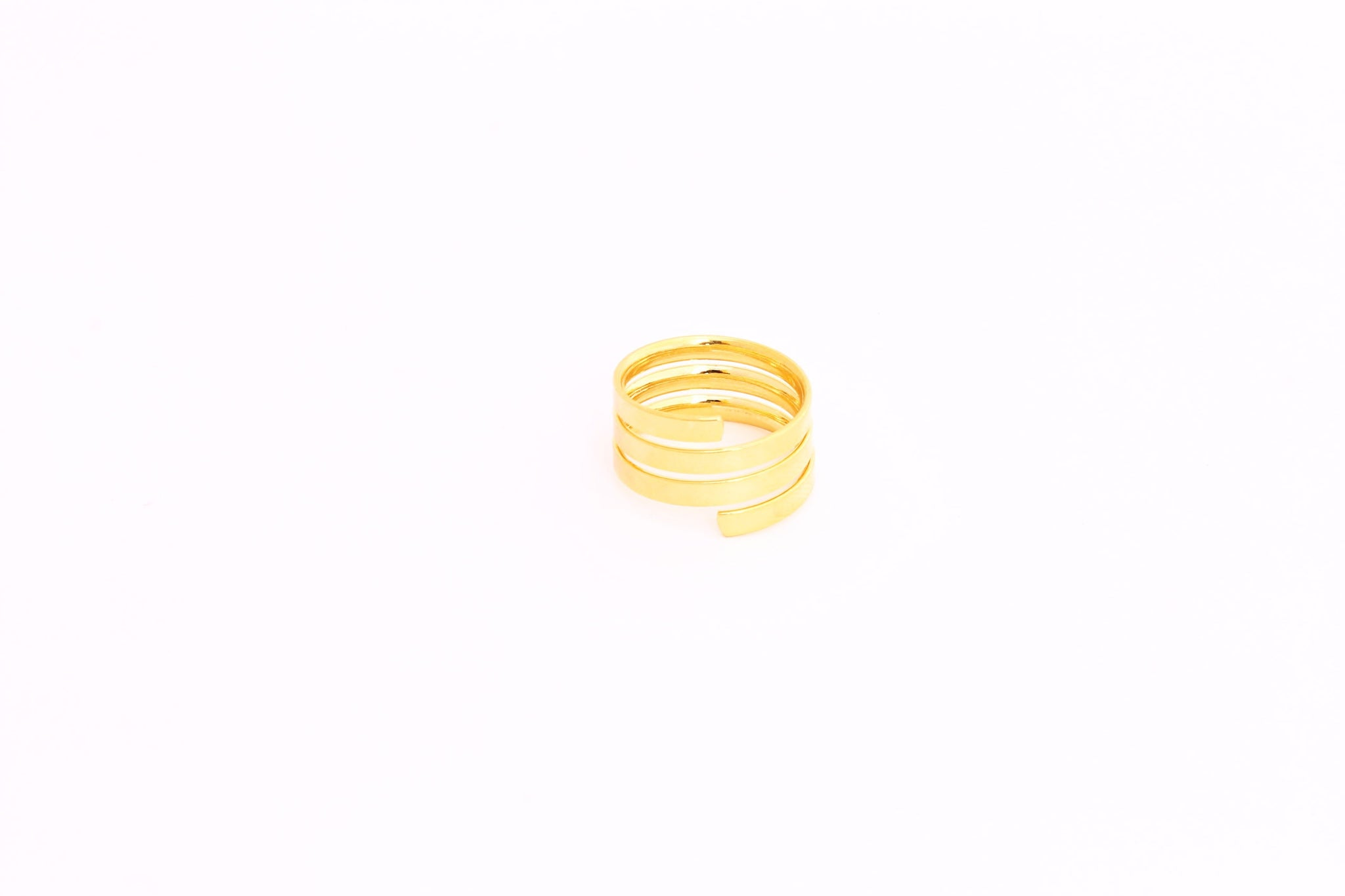 Gold Plated Flat Band Ring