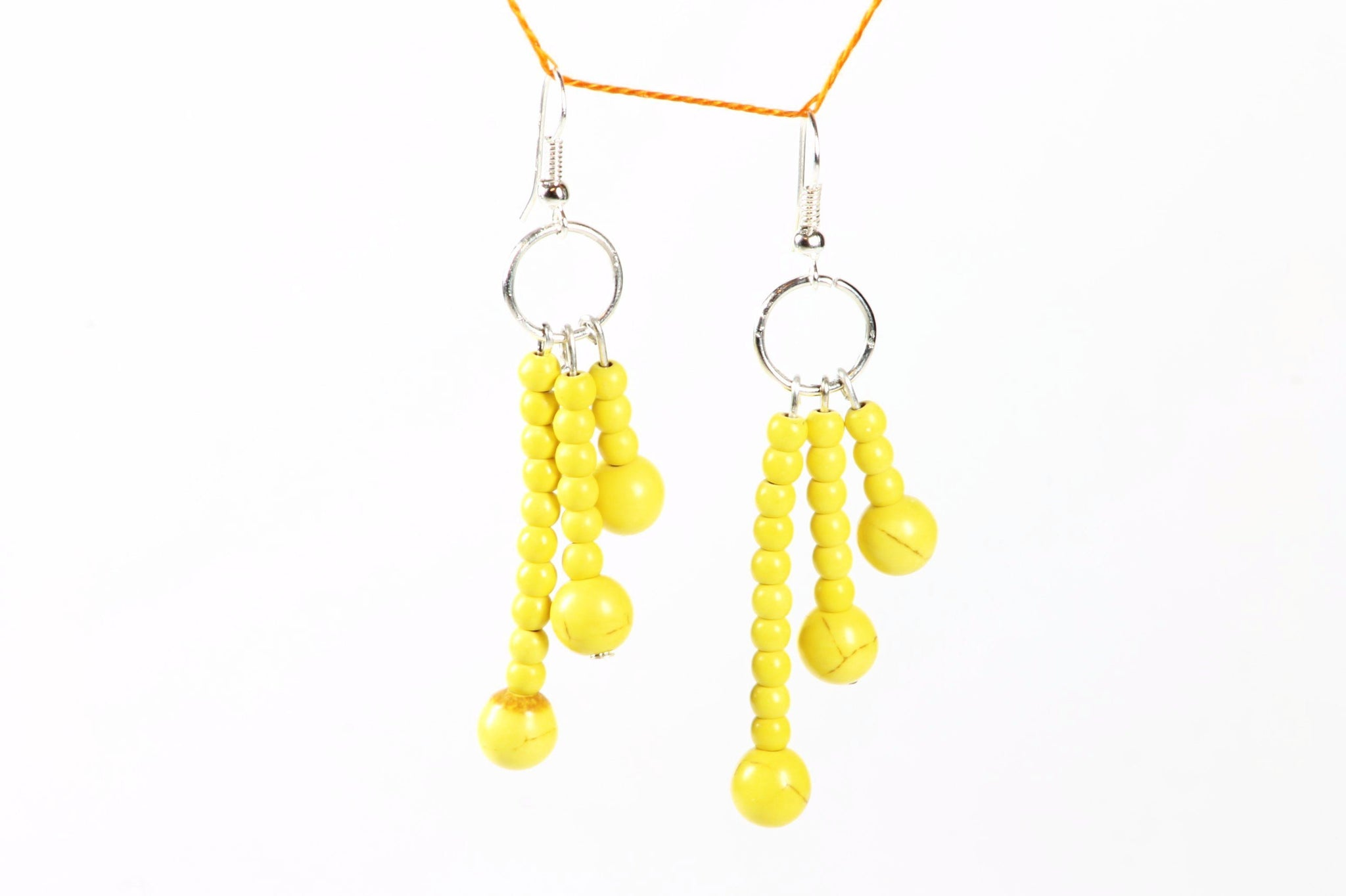 Yellow Fayrouz Stones Earring