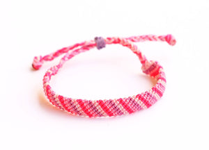 Pinks flat braid