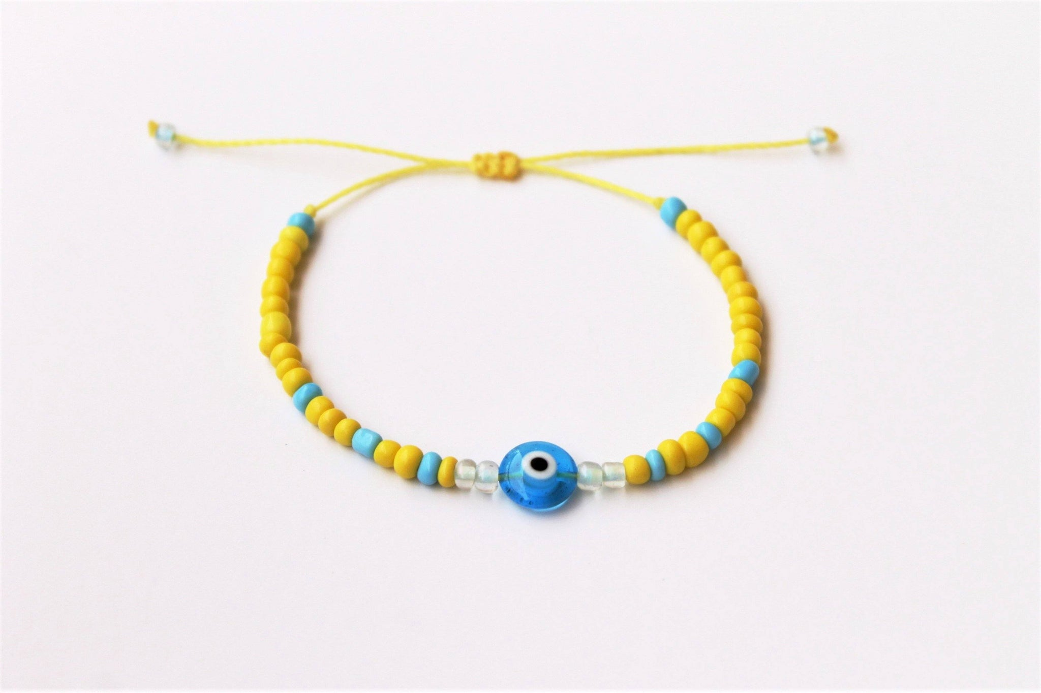 3ain Zar2a Yellow Seed Beads