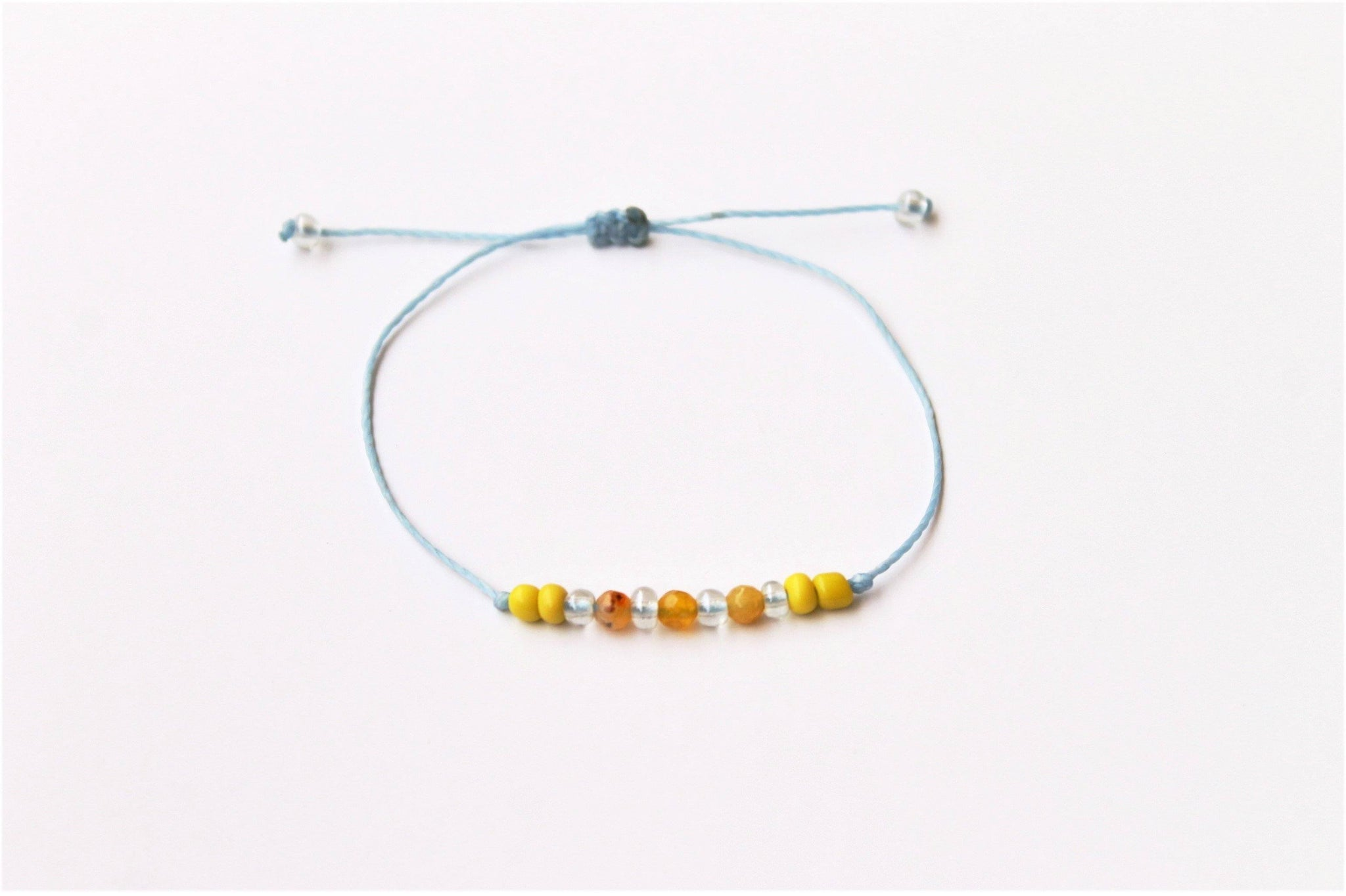 Yellow Tiny Agate Stones Bracelet