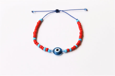 3ain Zar2a Red Seed Beads