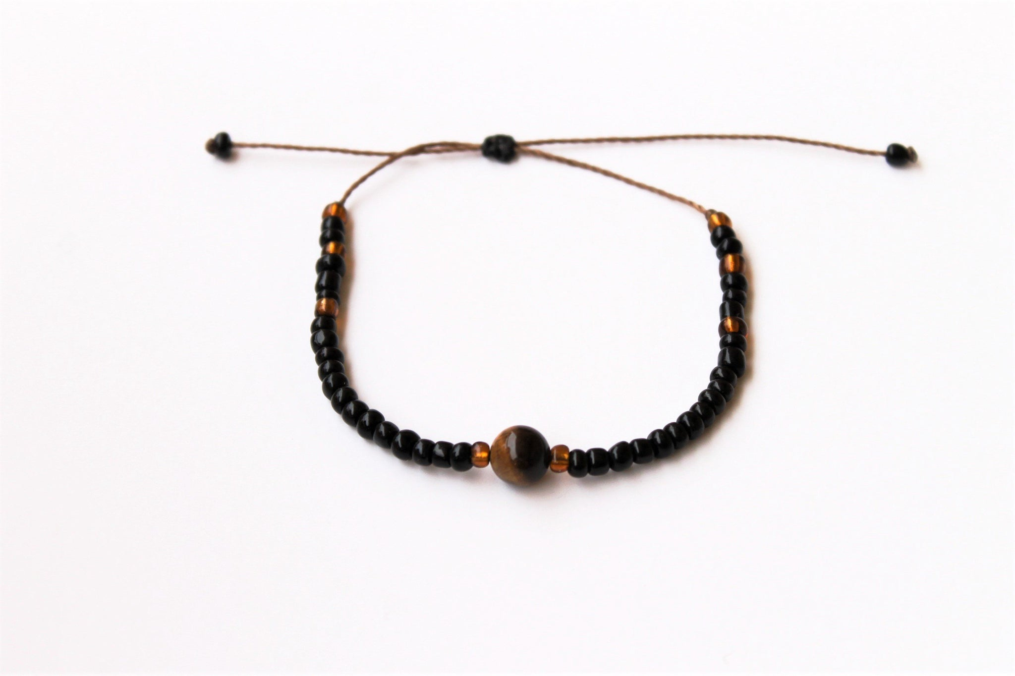 Brown Moon Seed Beads