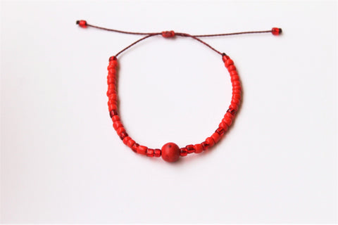Red Moon Seed Beads
