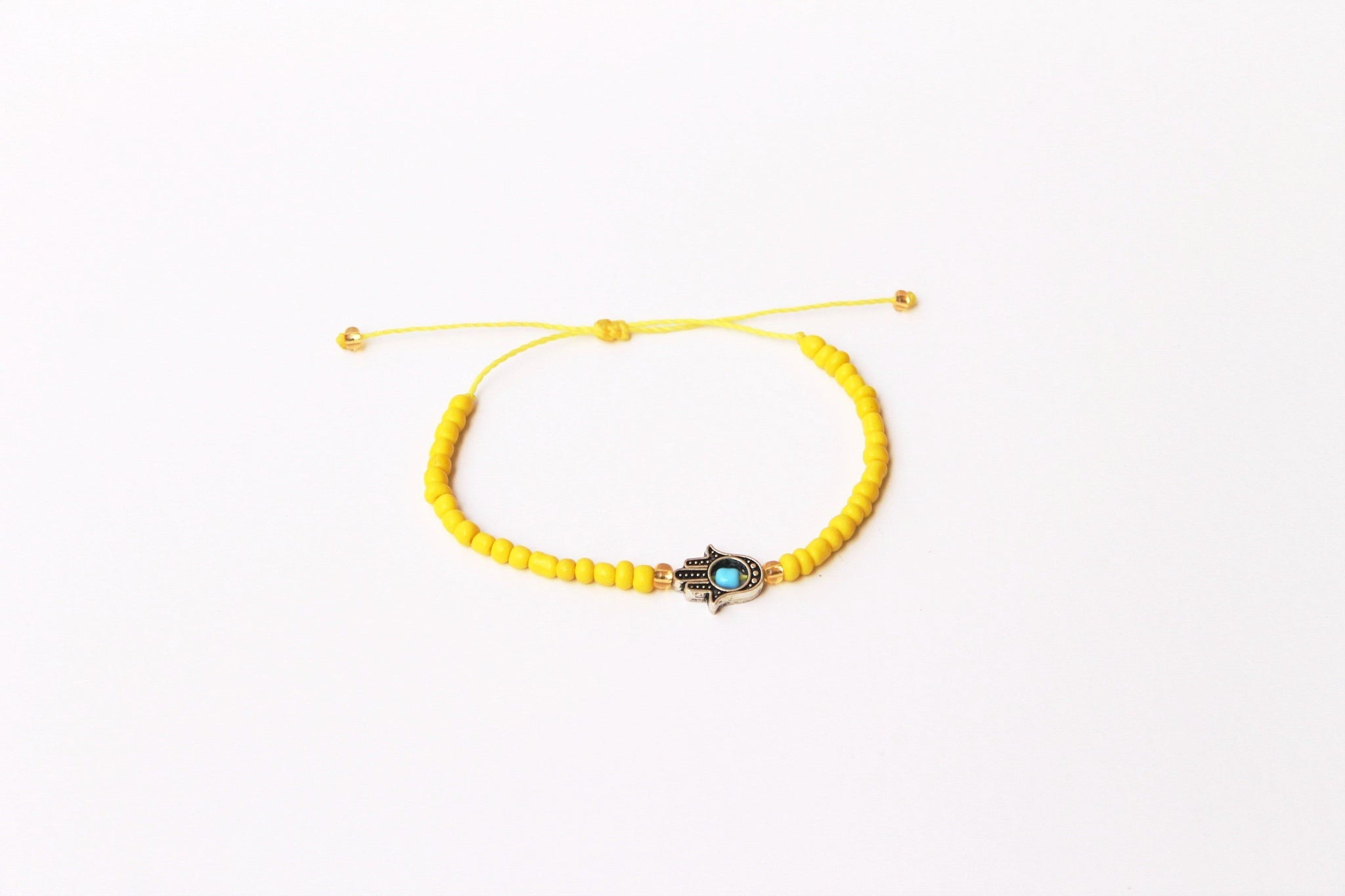 Yellow Seed Beads with Kaf