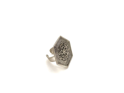 Warda Siwi Silver Ring