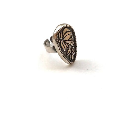 Siwi Plant Silver Ring