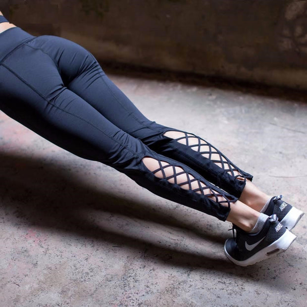Cutout Tie Yoga Pants