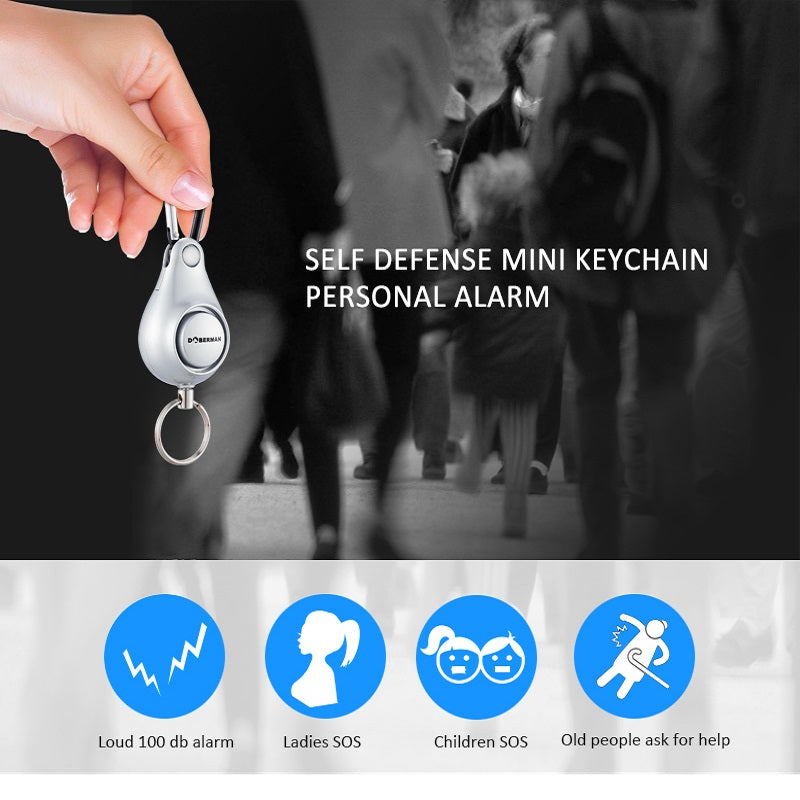 Attract Attention When In Danger - Self Defense Mini KeyChain Personal Alarm
