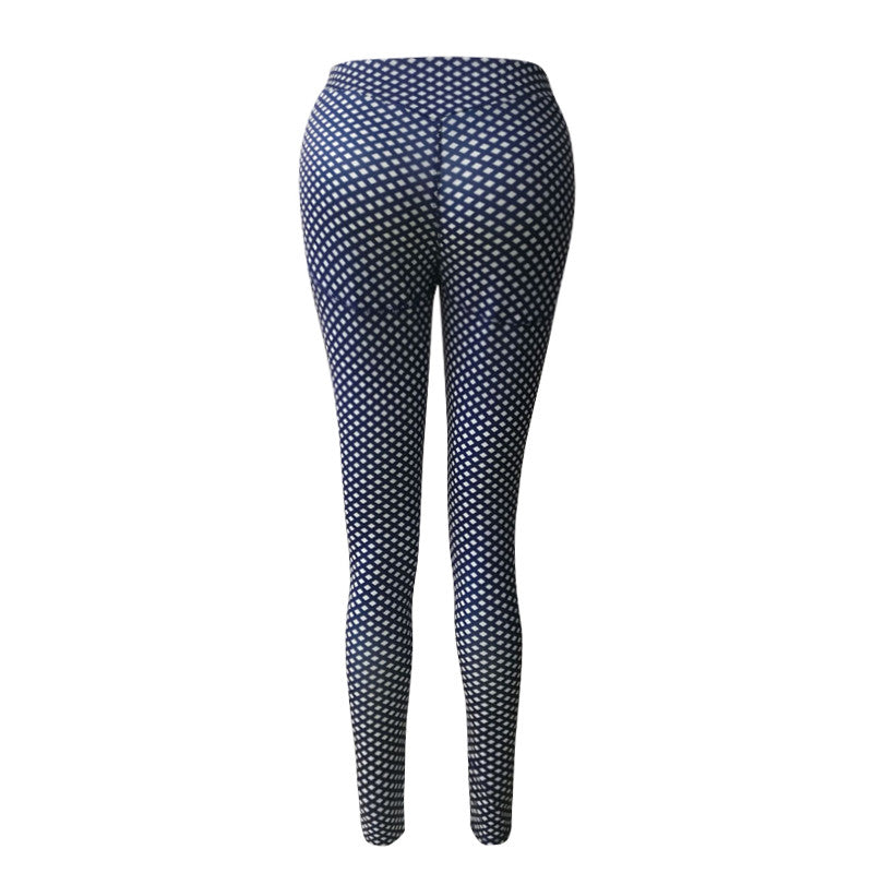 Blue Dots Yoga Pants