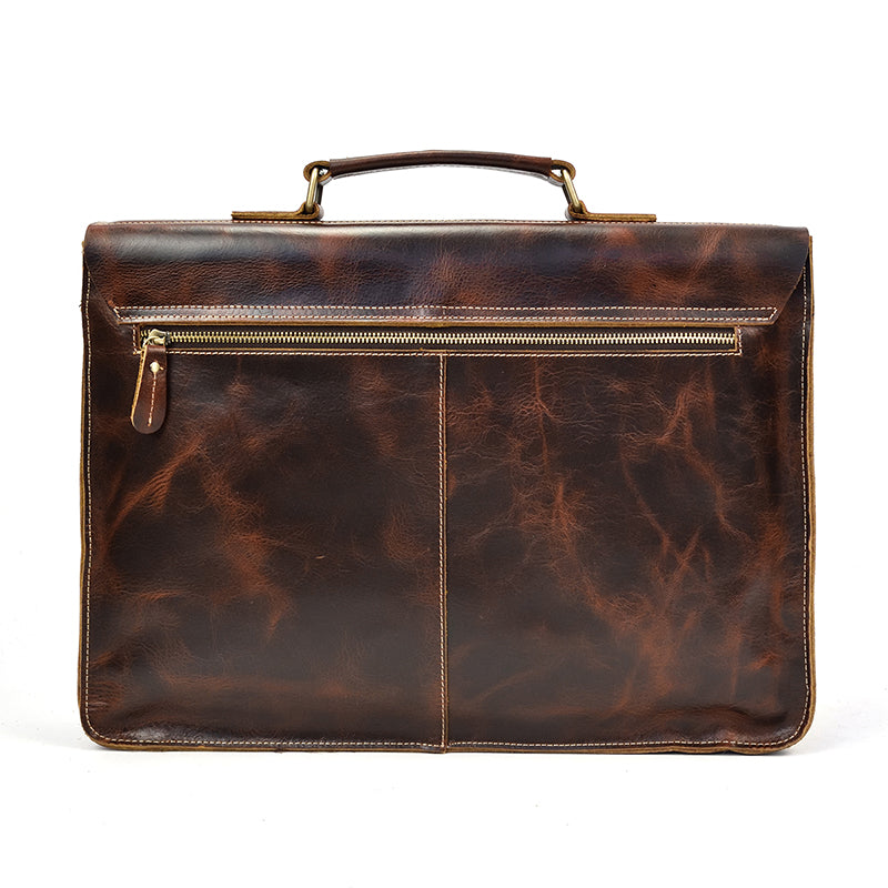 High Quality Leather Laptop Bag | Brown