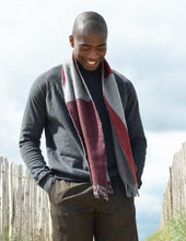 Colour Block hand printed Angora Wool scarf - Staffa 7 menswear