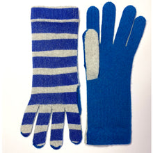 Ladies broad-striped cashmere glove.