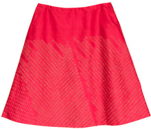 'Dashes' Lipstick indian Douppion A-line skirt Front