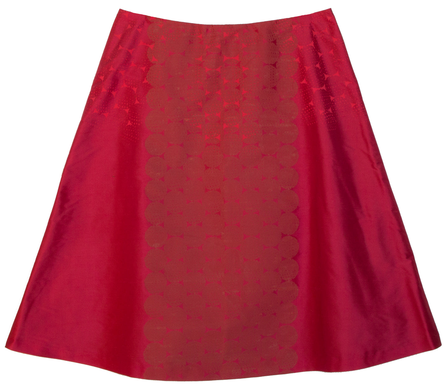 'Guinea' Lipstick Indian Douppion silk A-line skirt