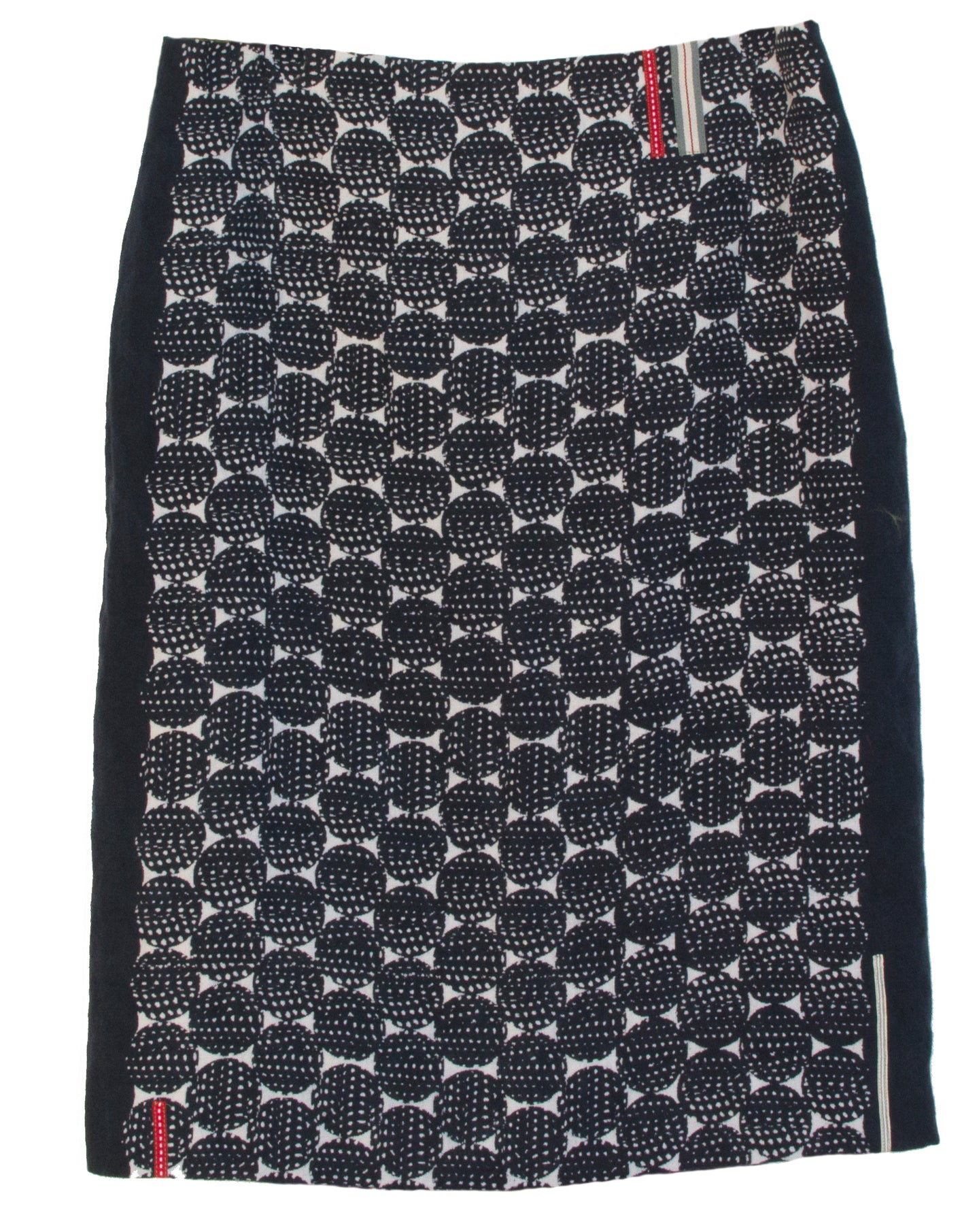 'Guinea' print pencil linen skirt