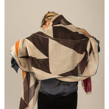 JKD 70c Cashmere scarf staffa stone 'Chocolate' colourway