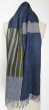 Colour Block hand printed Angora Wool scarf - Staffa 1 womenswear and menswear