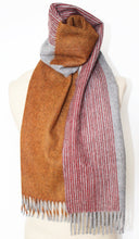 Jane Keith Designs Colour Block hand printed Angora Wool scarf - Staffa 3