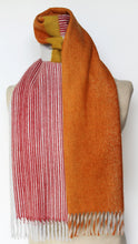 Jane Keith Designs Colour Block hand printed Angora Wool scarf - Staffa 4